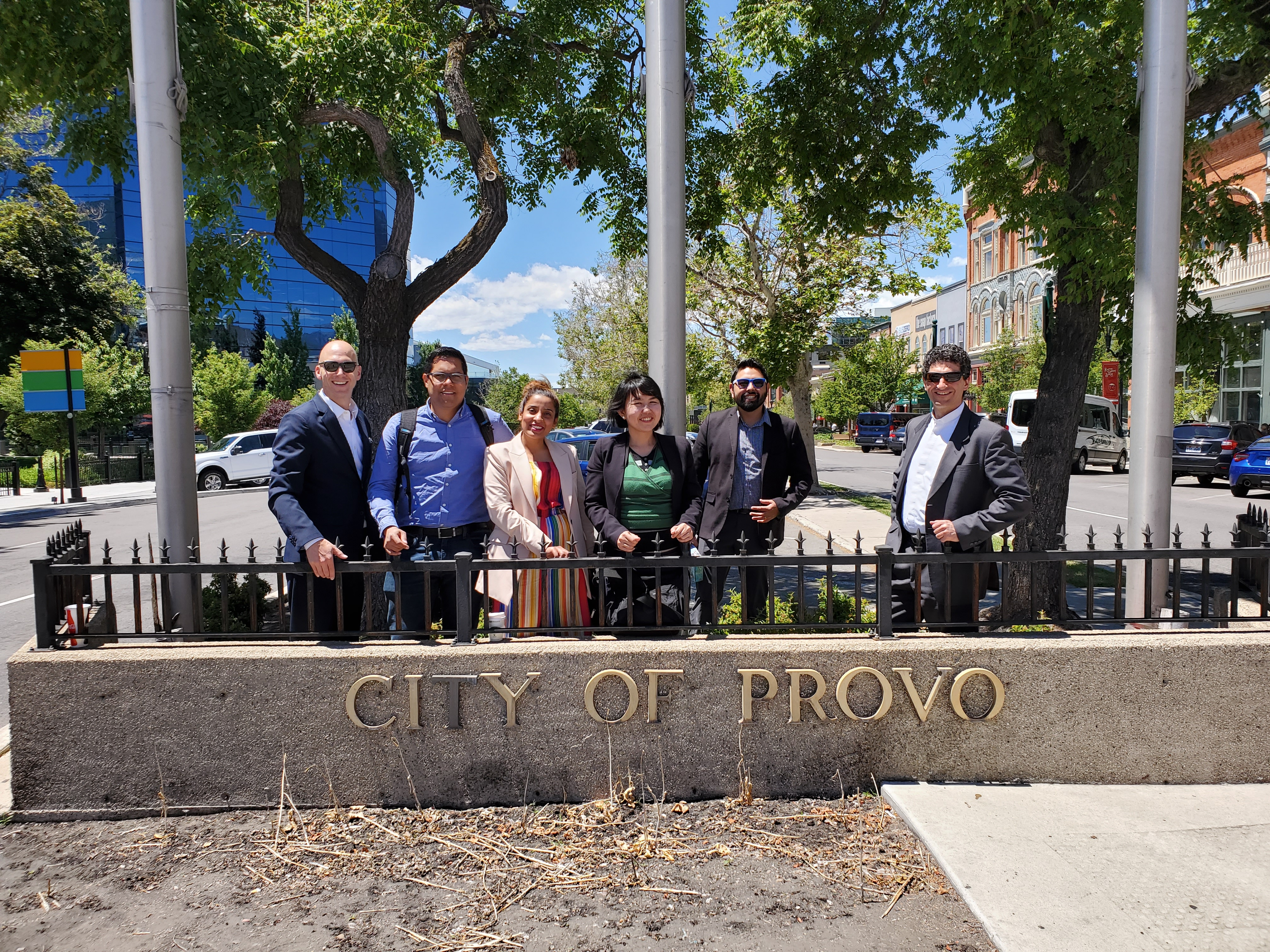 Digital Economy Visitors in Downtown Provo after BYU Meetings Utah Council for Citizen Diplomacy International Visitor Leadership Program